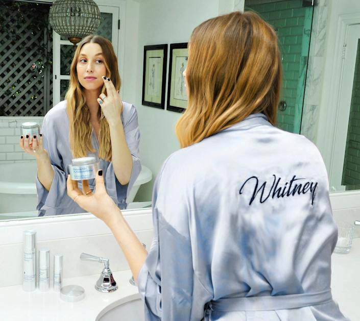 Whitney Port steps up her skincare game with Perricone MD's Hydrogen Cloud Cream.