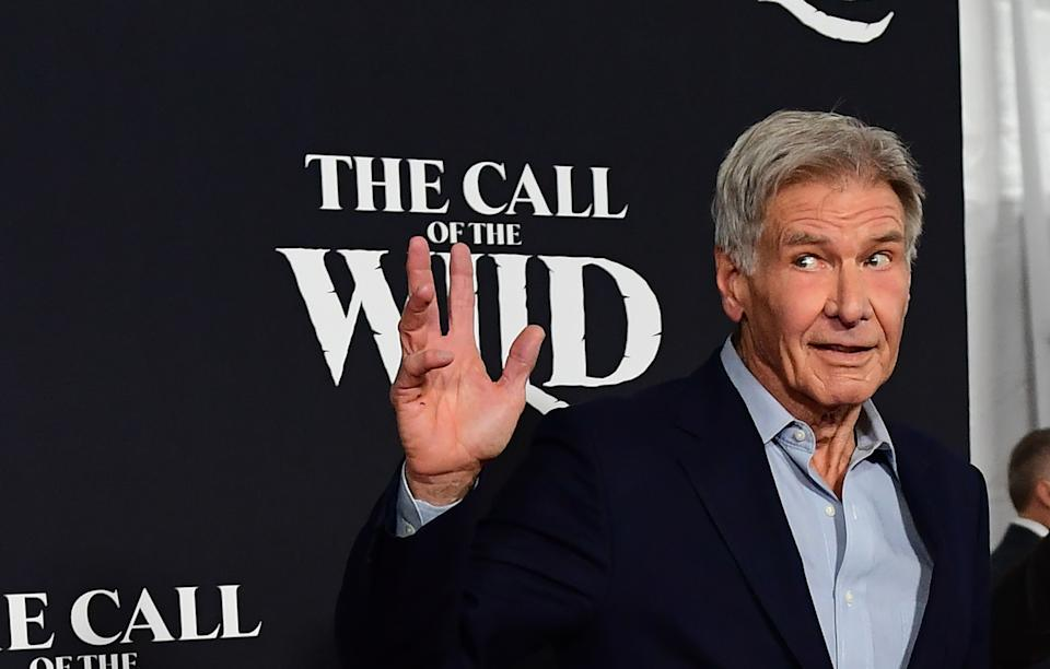 US actor Harrison Ford arrives for Disney's