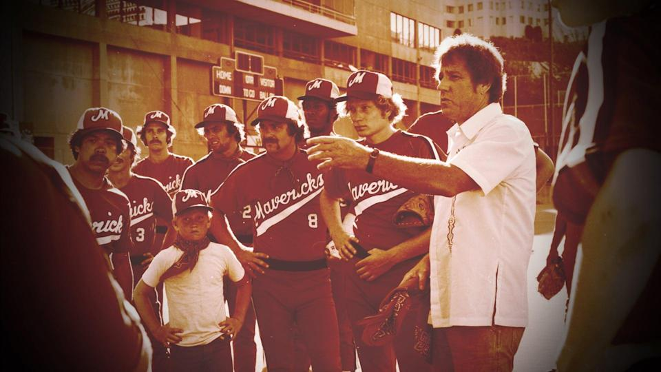 """<p>In the '70s, actor Bing Russell started an independent baseball team of scrappy underdogs that nobody wanted and called them the Portland Mavericks. This inspiring documentary follows their journey - you might know one of the former players, Kurt Russell, aka Bing's son.</p> <p>Watch <a href=""""http://www.netflix.com/title/70299904"""" class=""""link rapid-noclick-resp"""" rel=""""nofollow noopener"""" target=""""_blank"""" data-ylk=""""slk:The Battered Bastards of Baseball""""><strong>The Battered Bastards of Baseball</strong></a> on Netflix now.</p>"""