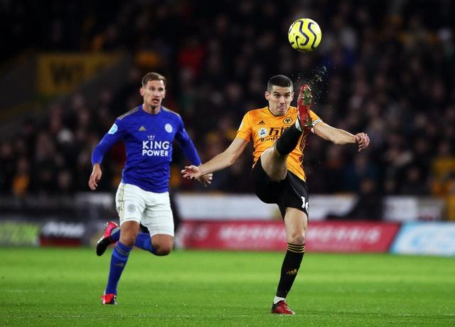 Conor Coady, right, has impressed for Wolves in the Premier League