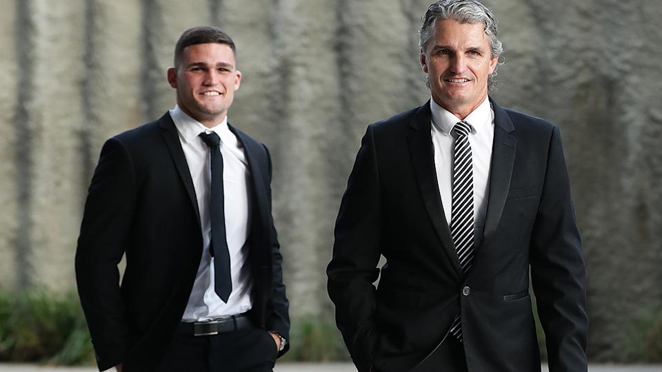 Nathan and Ivan Cleary, pictured here at the 2020 Dally M Awards.