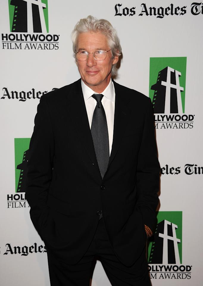BEVERLY HILLS, CA - OCTOBER 22:  Actor Richard Gere arrives at the 16th Annual Hollywood Film Awards Gala presented by The Los Angeles Times held at The Beverly Hilton Hotel on October 22, 2012 in Beverly Hills, California.  (Photo by Jason Merritt/Getty Images)