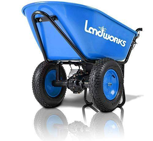 """<p><strong>Landworks</strong></p><p>amazon.com</p><p><strong>$529.99</strong></p><p><a href=""""https://www.amazon.com/dp/B07X6CR18V?tag=syn-yahoo-20&ascsubtag=%5Bartid%7C10055.g.36266672%5Bsrc%7Cyahoo-us"""" rel=""""nofollow noopener"""" target=""""_blank"""" data-ylk=""""slk:Shop Now"""" class=""""link rapid-noclick-resp"""">Shop Now</a></p><p>Hauling heavy loads of mulch and fertilizer around your yard can be a strenuous job. But fortunately there's a solution for that: Motorized wheelbarrows can help you move super heavy loads of yard waste or even gravel or stone and help you get the job done. This particular model boasts pneumatic wheels and<strong> a rechargeable battery-powered motor</strong>.</p>"""