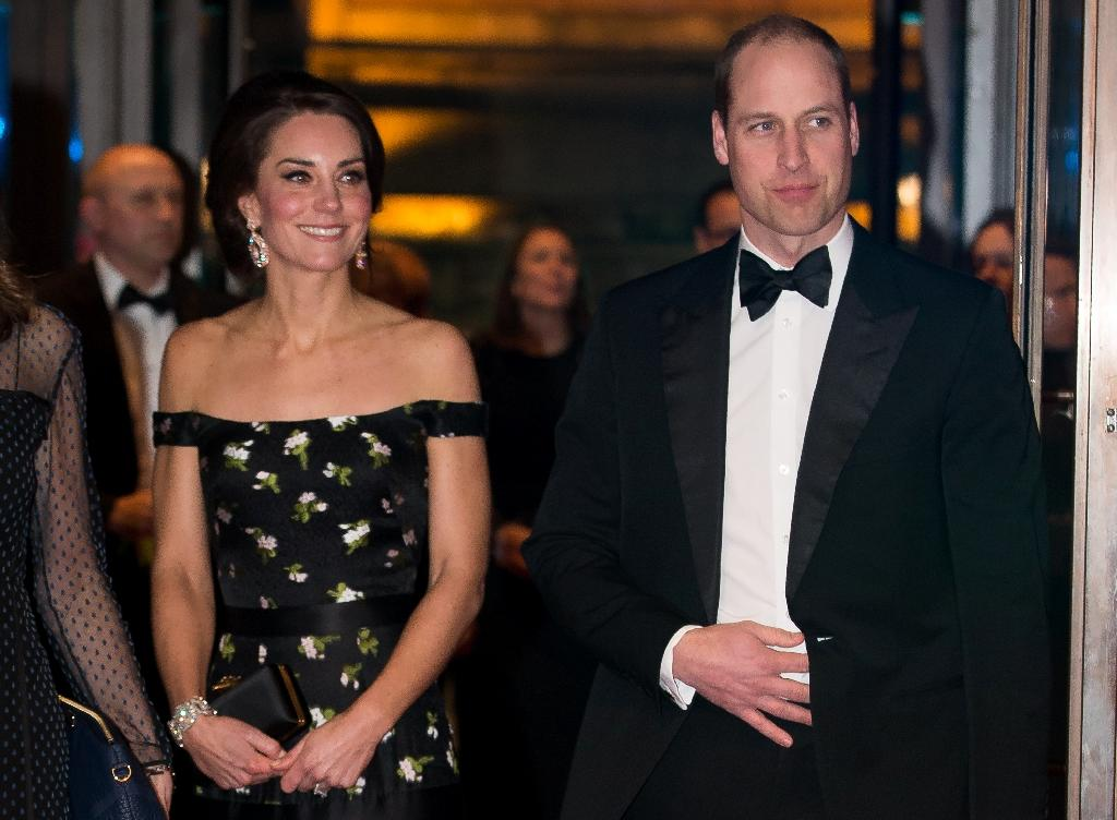 Britain's Prince William and wife Kate arrive for last year's BAFTA awards in London (AFP Photo/Daniel LEAL-OLIVAS)