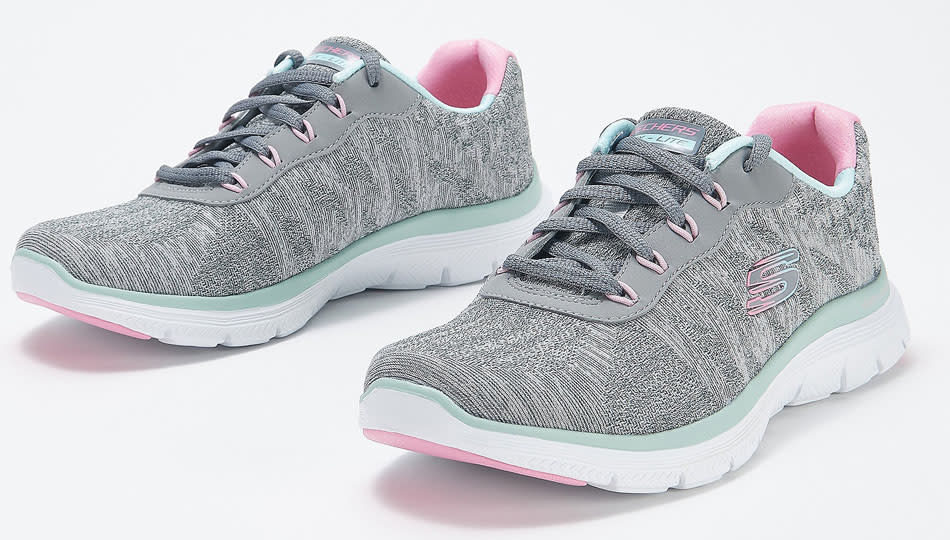 Skechers Fresh Move have memory foam insoles and heel cups. (Photo: QVC)