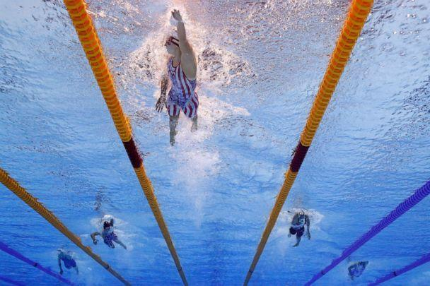 PHOTO: Katie Ledecky of Team United States competes in the Women's 800m Freestyle Final at Tokyo Aquatics Centre on July 31, 2021 in Tokyo, Japan. (Tom Pennington/Getty Images)