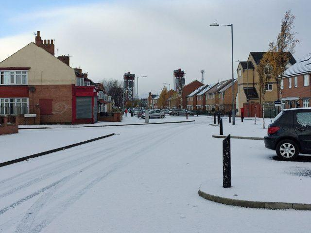 The scene in Middlesbrough during last week's cold snap