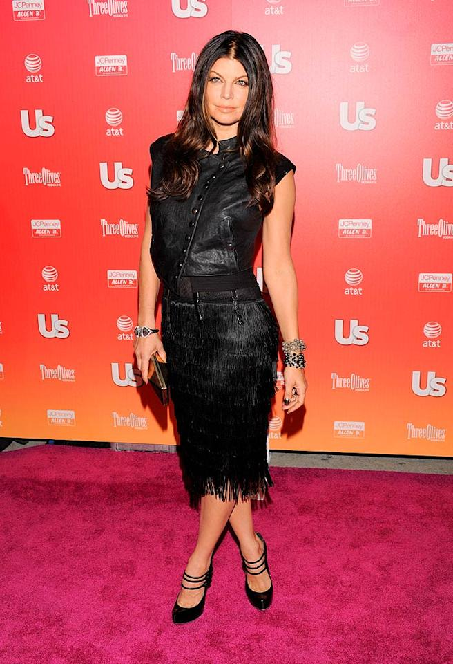 """Fergie, Us Weekly's style icon of the year, didn't disappoint at the magazine's Hot Hollywood Party in her Alexander McQueen for Target vest, which she wore over a DSquared dress. Todd Williamson/<a href=""""http://www.wireimage.com"""" target=""""new"""">WireImage.com</a> - April 22, 2009"""