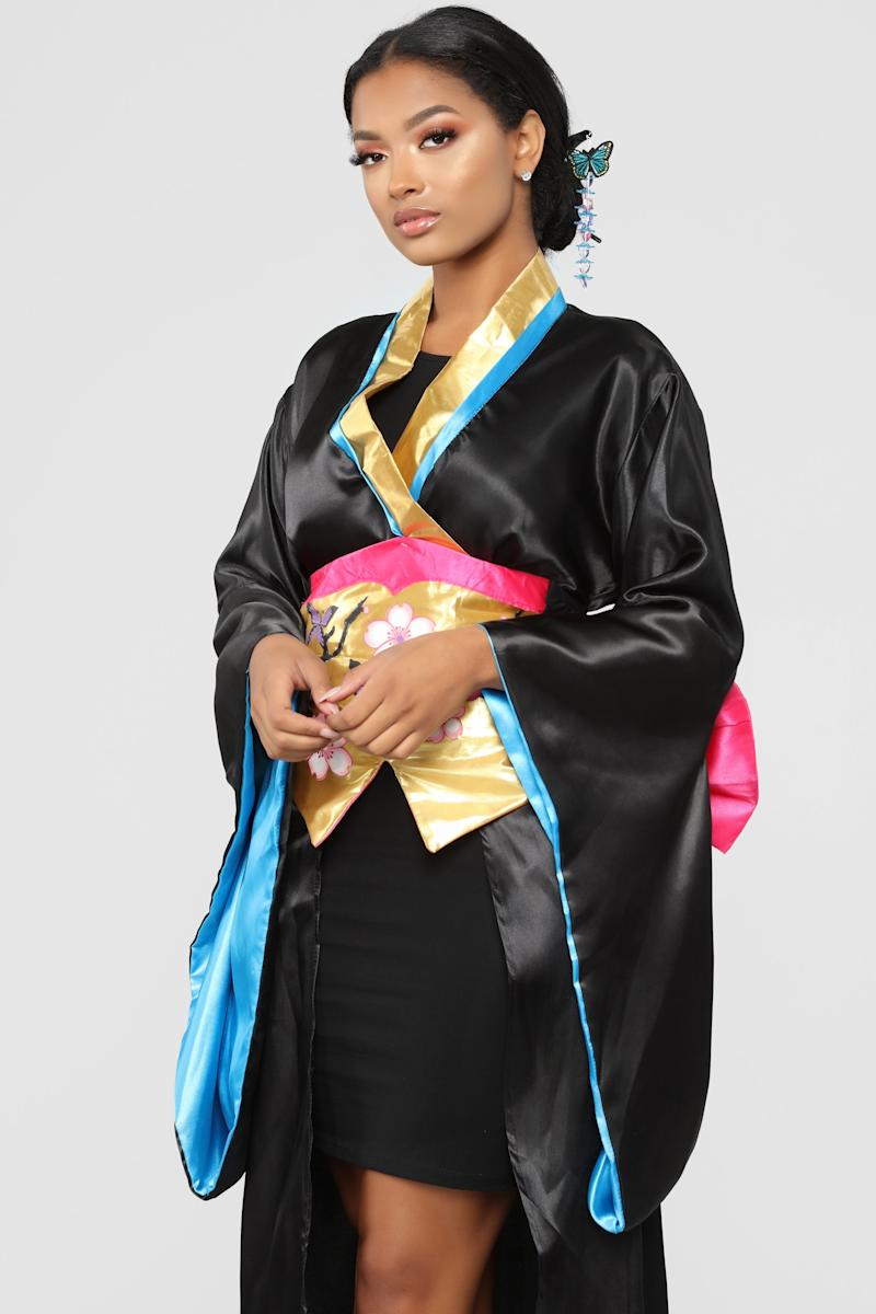 fashion nova is selling a sexy geisha halloween costume