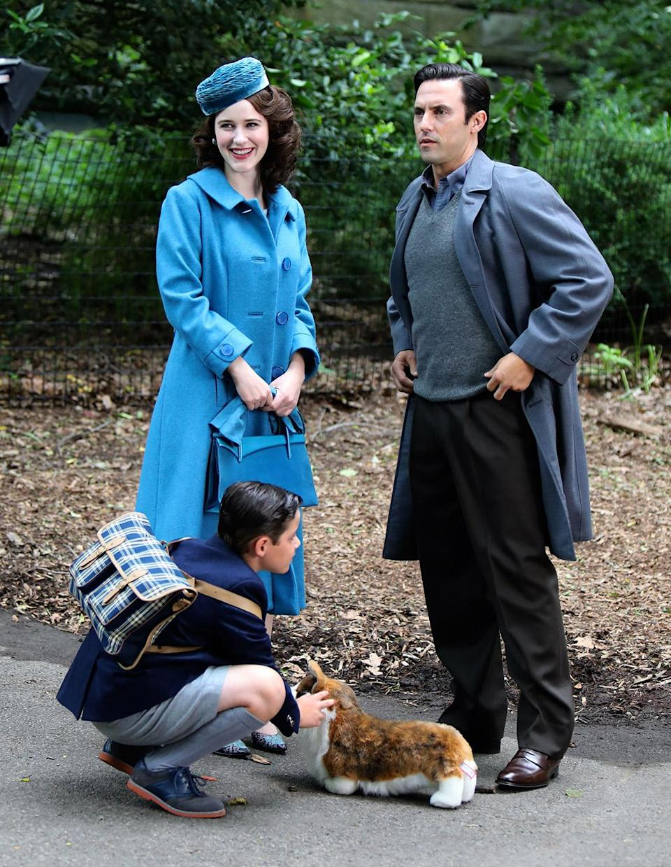 <p>Okay, let's pause talking about Milo Ventimiglia's mysterious new character and talk about the fact that they are using a stuffed corgi as a stand-in. Give that stuffed Corgi the Emmy! </p>