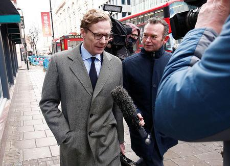 United Kingdom investigators raid Cambridge Analytica offices in Facebook data mining probe