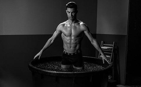 """<p>In February 2020, Ronaldo posted this ice-y recovery photo showing off his chiseled abs and his ability to withstand chilly temperatures.</p><p><a href=""""https://www.instagram.com/p/B8rbn_kg955/"""" rel=""""nofollow noopener"""" target=""""_blank"""" data-ylk=""""slk:See the original post on Instagram"""" class=""""link rapid-noclick-resp"""">See the original post on Instagram</a></p>"""