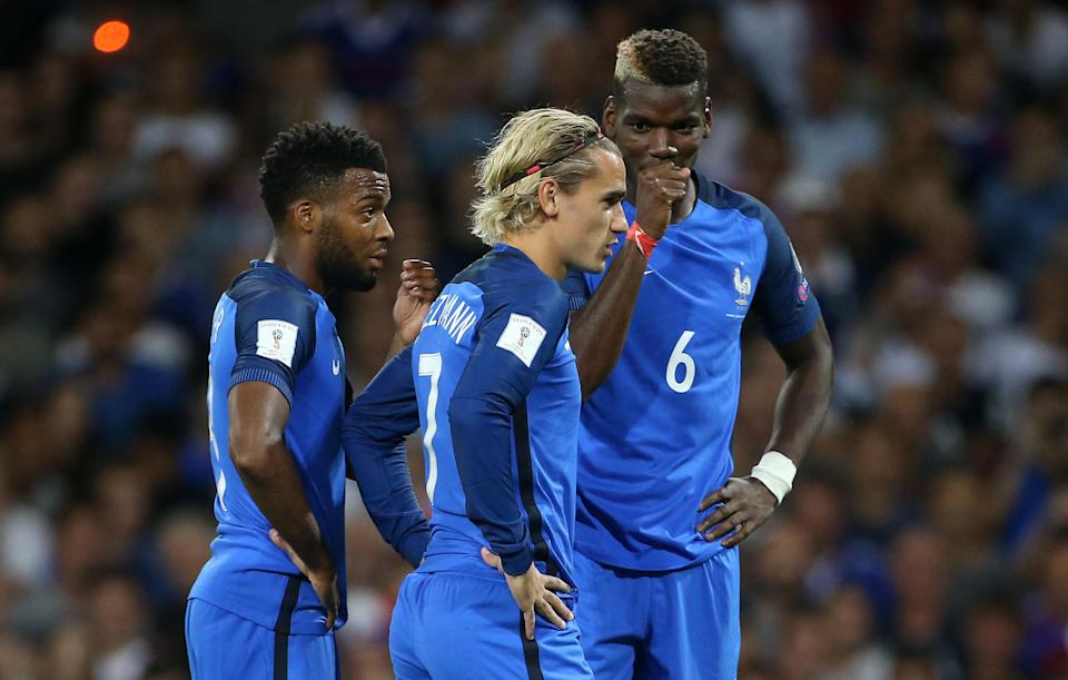 Is there room for all three of Paul Pogba, Antoine Griezmann and Thomas Lemar in France's starting lineup at the World Cup? (Getty)