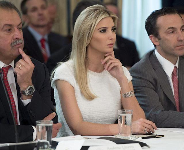 Ivanka Trump sits in a White House meeting. (Photo: SAUL LOEB/AFP/Getty Images)