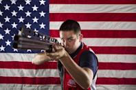 Shooting athlete Joshua Richmond poses for a portrait during the 2012 U.S. Olympic Team Media Summit in Dallas, May 14, 2012.