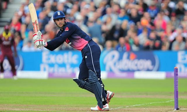 "<span class=""element-image__caption"">Alex Hales batting for England against West Indies during the one-day international match at Bristol on 24 September.</span> <span class=""element-image__credit"">Photograph: PPAUK/Rex/Shutterstock</span>"