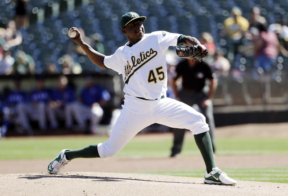 Jharel Cotton is among the young A's players who should be on your fantasy radar. (AP)