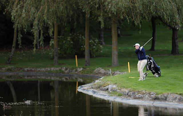 """<h1 class=""""title"""">Irish Challenge - Day Two</h1> <div class=""""caption""""> CARLOW, IRELAND - OCTOBER 09: Dave Coupland at Mount Wolseley Hotel Spa and Golf Resort on October 09, 2015 in Carlow, Ireland. (Photo by Lorraine O'Sullivan/Getty Images) </div> <cite class=""""credit"""">Getty Images</cite>"""