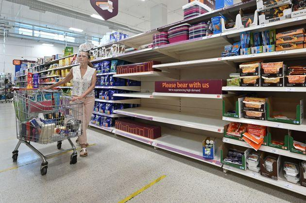 Food shortages in the UK have become a pressing concern in recent months (Photo: JUSTIN TALLIS via Getty Images)