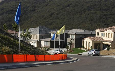 A general view of a new subdivision of recently sold single family homes in San Marcos