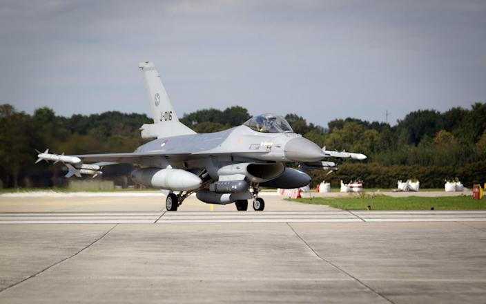 A Dutch F16 at the Volkel Air Base - JEROEN JUMELET/AFP/Getty Images