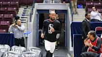 <p>The Raptors 905 enter the court prior to tip-off. (Photo courtesy: Trung Ho) </p>