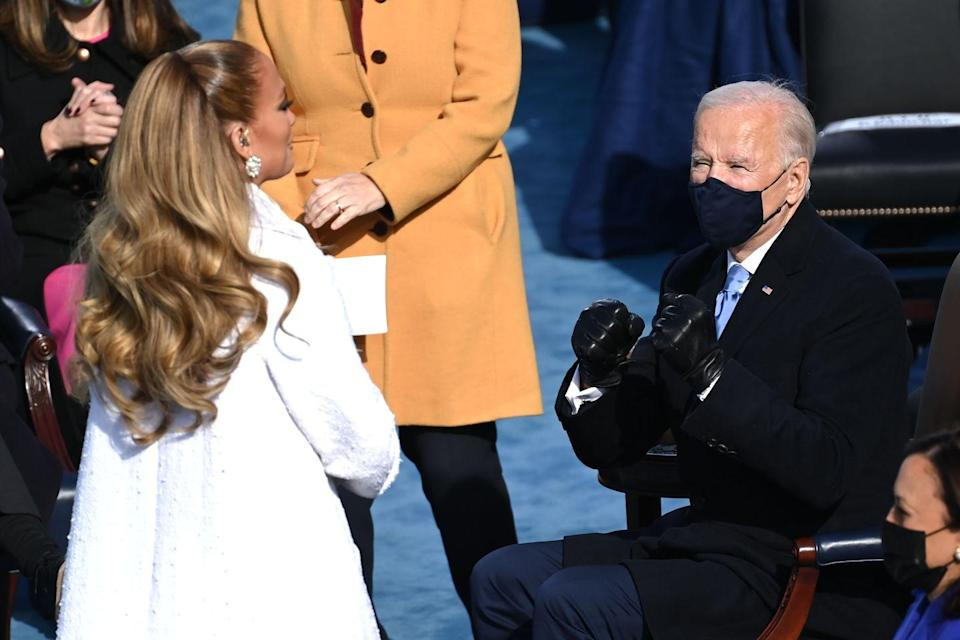 <p>The singer kept her biggest and plushiest hairstyle for the inauguration of the 46th President, Joe Biden. Lopez worked a giant gravity-defying wavy ponytail courtesy of her go-to stylist Christ Appleton to sing at the historic event.</p>