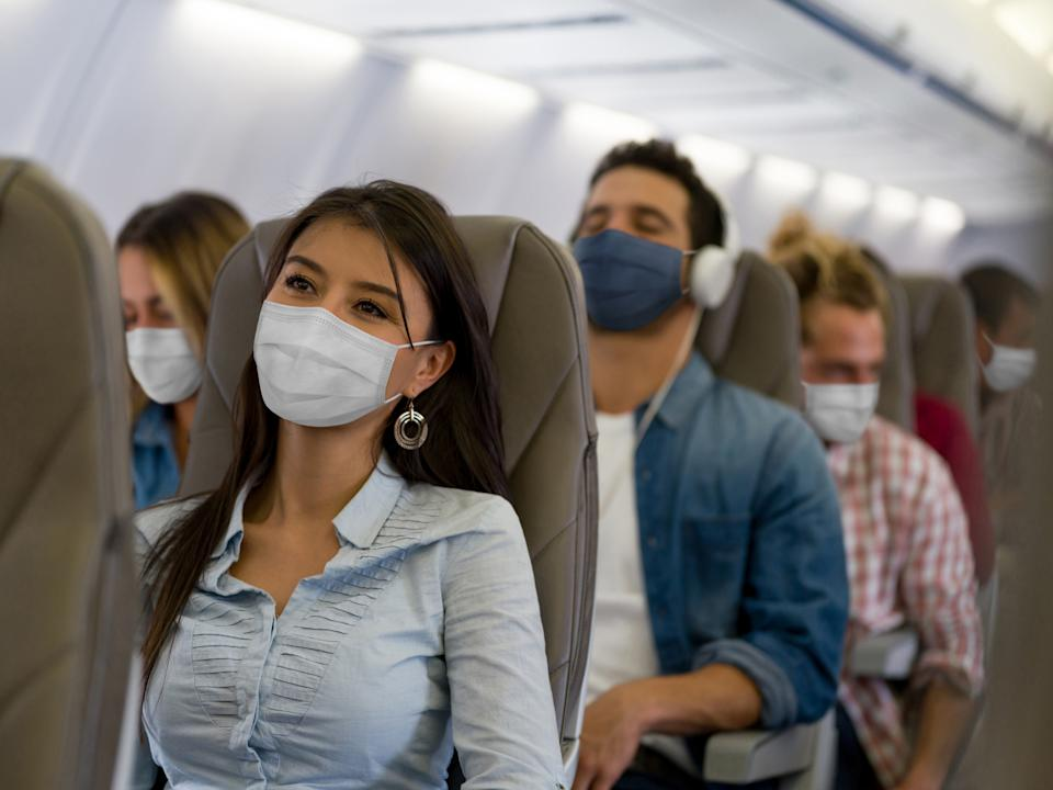 Passengers flying during the COVID-19 pandemic