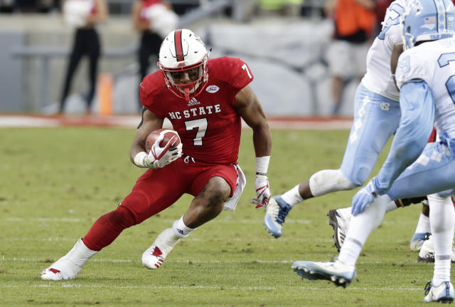 "<a class=""link rapid-noclick-resp"" href=""/ncaaf/players/255291/"" data-ylk=""slk:Nyheim Hines"">Nyheim Hines</a> rushed for 1,113 yards in 2017. (AP Photo/Gerry Broome, File)"