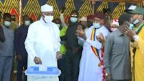 30-year ruler Chad President Deby votes in election bid for 6th term