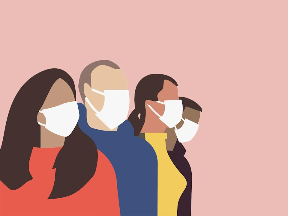 These can help reduce 'maskne' - breakouts caused by trapped heat and increased humidity from wearing face coverings: iStock