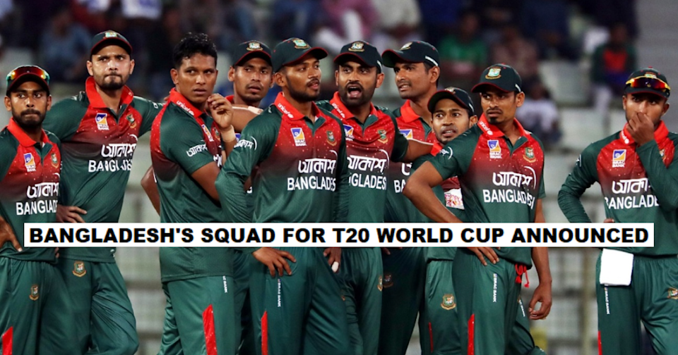 Bangladesh Announces Its T20 World Cup Squad; Mahmudullah To Lead