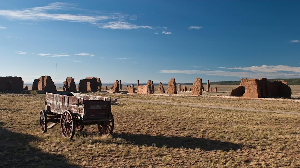 Fort Union National Monument is a unit of the National Park Service located north of Watrous, Mora County, New Mexico - Image.