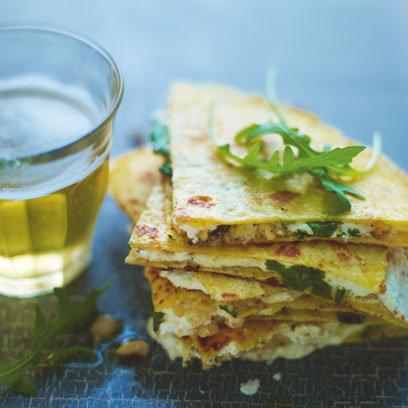 Goats Cheese Hazelnut Quesadillas