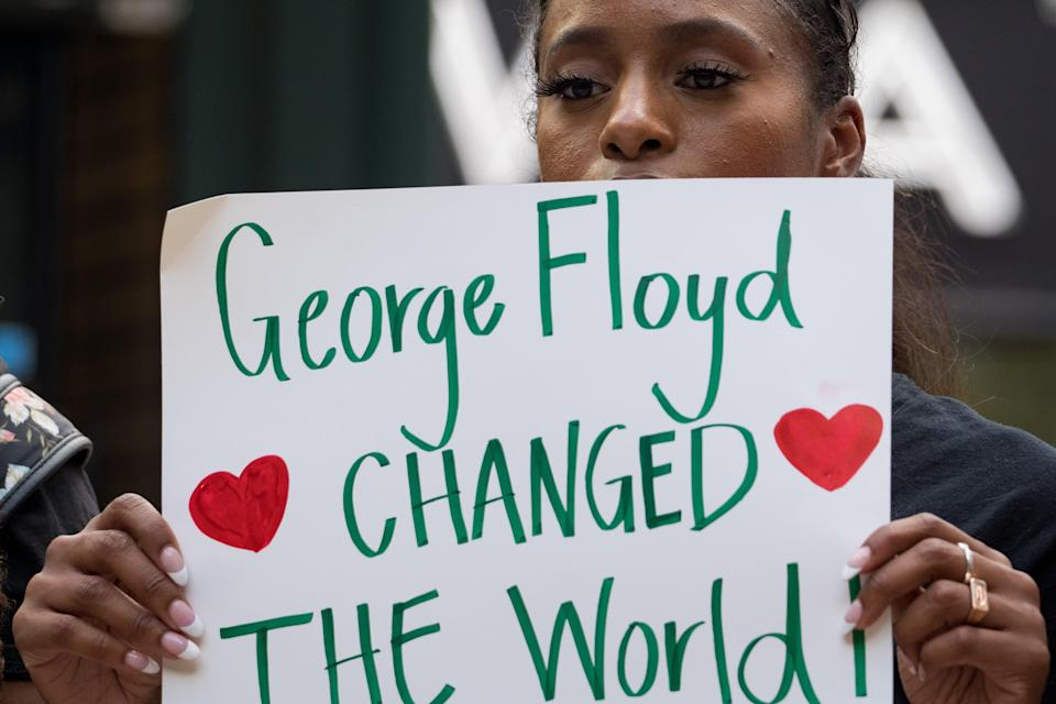 Mr Floyd's death sparked outrage all over the world (Getty Images)