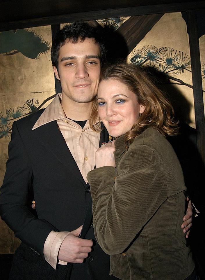 "Drew Barrymore's always had a reputation as a serial dater, but for a while, it looked like she and The Strokes drummer Fabrizio Moretti had a good thing going. Kevin Mazur/<a href=""http://www.wireimage.com"" target=""new"">WireImage.com</a> - February 12, 2003"