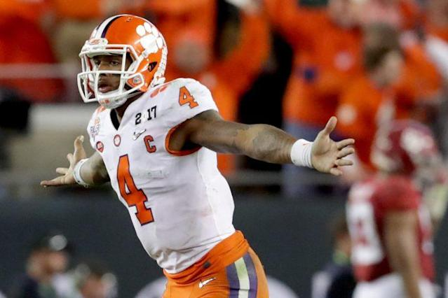 "Who will replace <a class=""link rapid-noclick-resp"" href=""/nfl/players/30125/"" data-ylk=""slk:Deshaun Watson"">Deshaun Watson</a> at QB for Clemson? (Getty)"