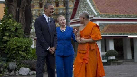 ap obama clinton thailand lt 121118 wblog Clinton, Obama Slip in Popularity; Uncertainty About Rubio Stays High