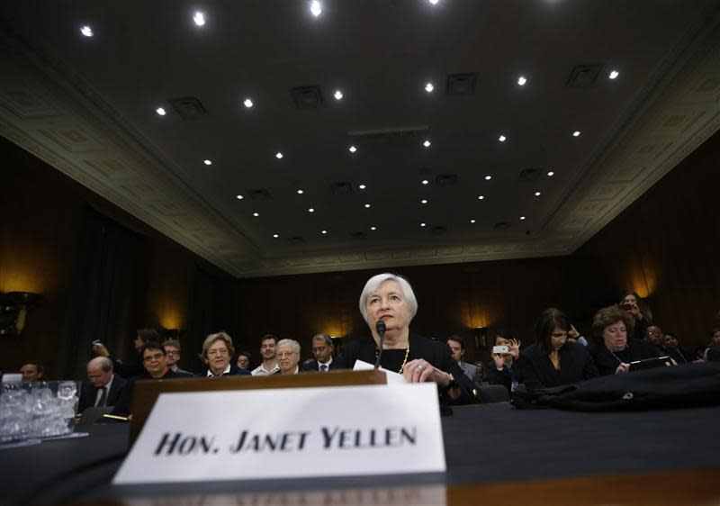 Yellen, President Obama's nominee to lead the U.S. Federal Reserve, is pictured at her U.S. Senate Banking Committee confirmation hearing in Washington