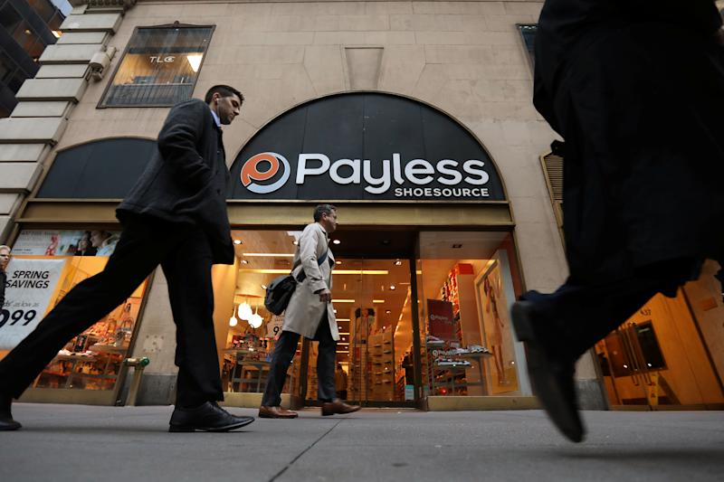 A Payless ShoeSource store is pictured in the Manhattan borough of New York, New York, U.S. April 4, 2017. REUTERS/Carlo Allegri