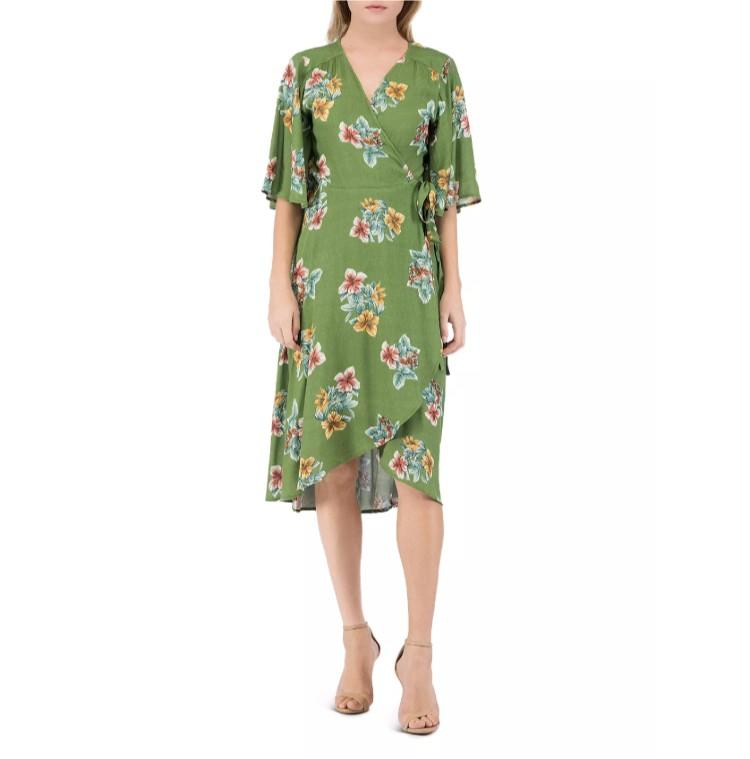 Orna Floral-Print Wrap Dress. (Photo: Bloomingdale's)