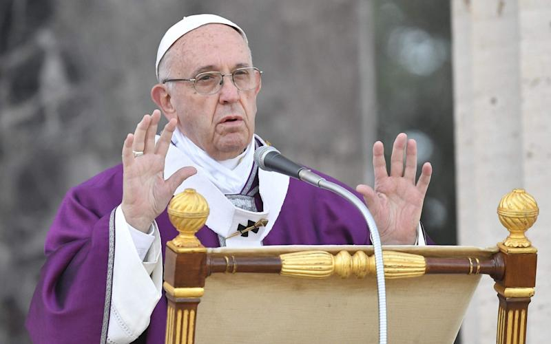 Pope Francis leads a mass on November 2 - AFP