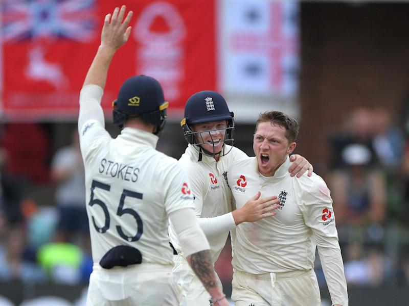 Bess celebrates making history with England on day three in Port Elizabeth: Getty