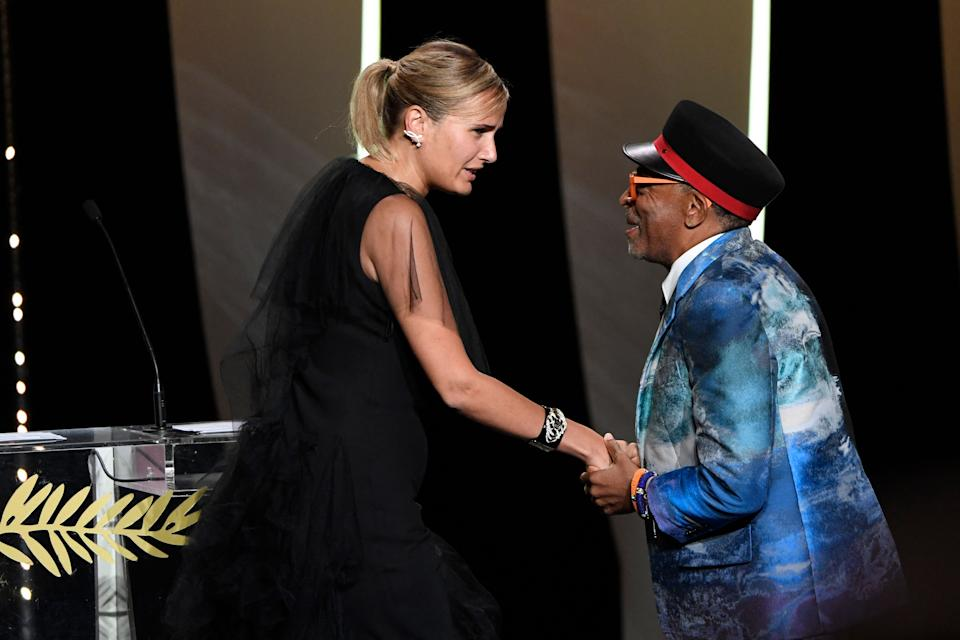 Spike Lee's jury at the Cannes Film Festival awarded the Palme d'Or to Julia Ducournau for 'Titane'. (Christophe Simon/AFP via Getty Images)