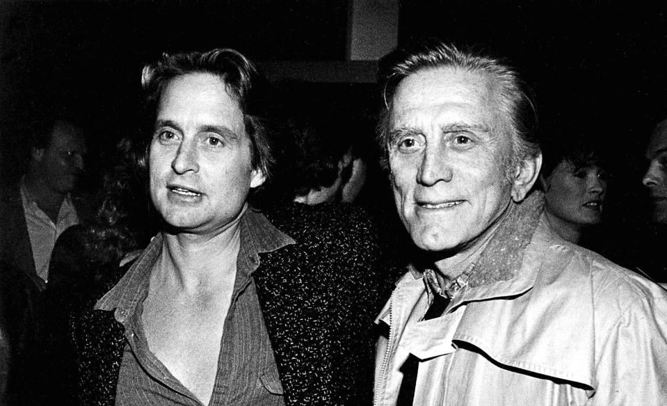 Michael Douglas and Kirk Douglas. Credit: 3351970_Globe Photos/MediaPunch /IPX
