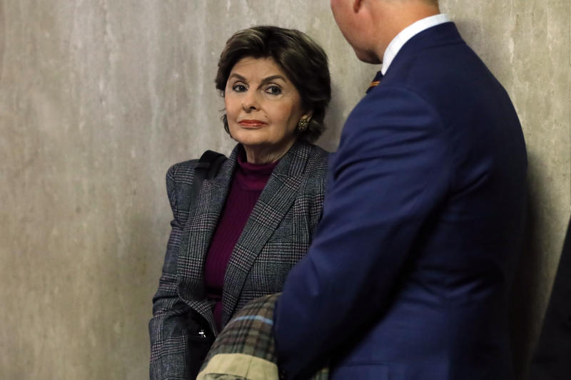 Attorney Gloria Allred waits to enter the courtroom for the Harvey Weinstein trial at State Supreme Court in New York, Monday, Jan. 6, 2020. Weinstein is on trial on charges of rape and sexual assault, more than two years after a torrent of women began accusing him of misconduct. (AP Photo/Richard Drew)