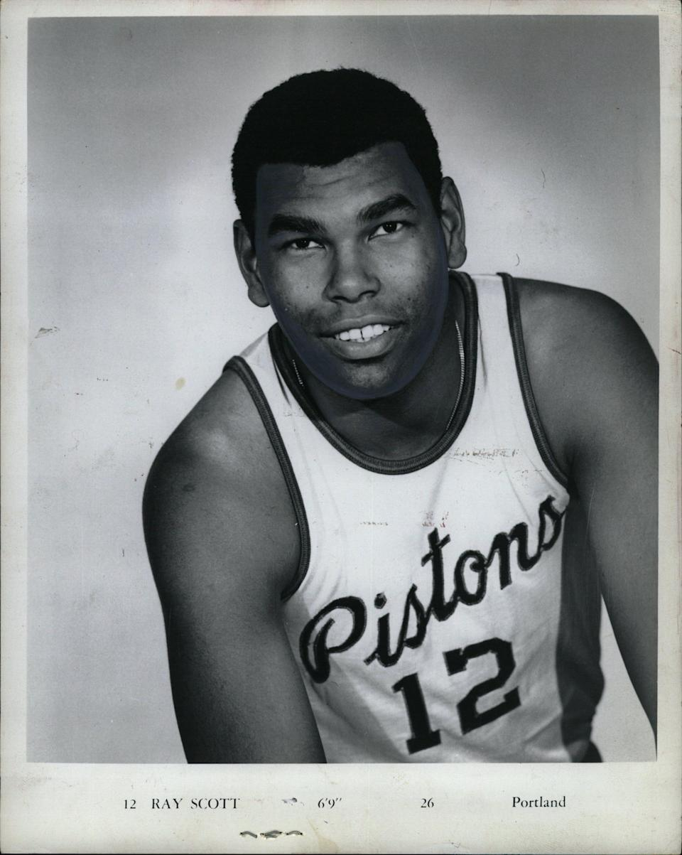 Ray Scott played 11 seasons in the NBA and ABA, including six seasons with the Pistons where he averaged 16 points per game.