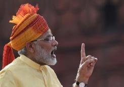 Modi says India will fight foreign threats