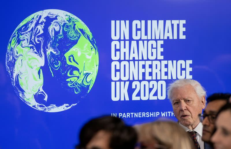 FILE PHOTO: David Attenborough attends a conference about the UK-hosted COP26 UN Climate Summit, at the Science Museum in London