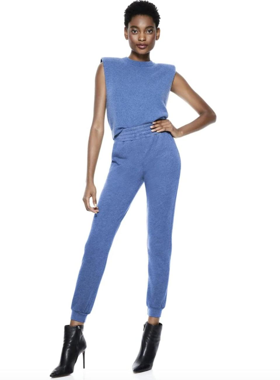 """<p><span>Alice + Olivia Sweat Set</span> ($370)</p> <p>""""Yes, I've been collecting sweat sets throughout 2020, but I'm trying to streamline my collection and make sure that my co-ords feel chic and speak to my personality. I love the sleeveless top and the blue colorway of this one."""" - SW</p>"""